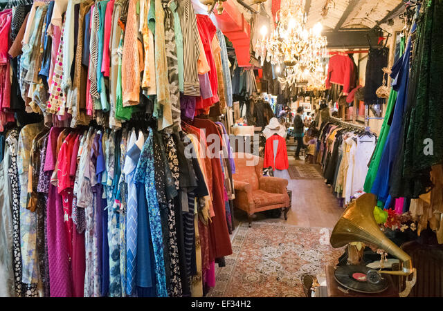 Retro clothes shop - Stock Image