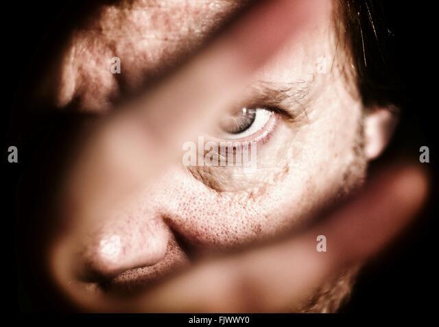 Close-Up Portrait Of Mature Man - Stock-Bilder