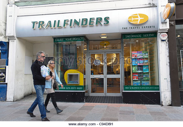 Trailfinders travel agents shop in Cardiff City Centre, Wales, UK. - Stock-Bilder