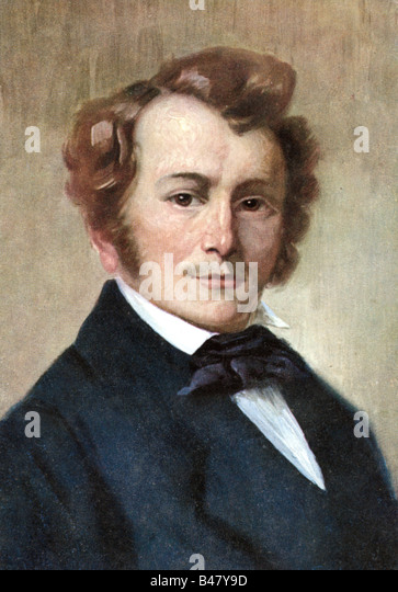Lortzing, Albert, 23.10.1801 - 21.01.1851, German composer, portrait, painting by Robert Einhorn, circa 1910, musician, - Stock Image