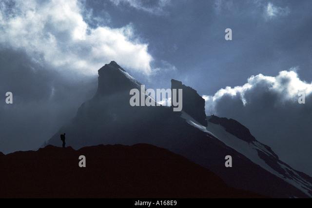 The Tschingelspitze from the Lauterbrunnen Valley, Bernese Oberland, Switzerland - Stock Image