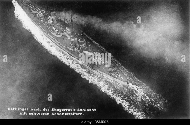 9 1916 5 31 A1 1 E World War One Jutland Skagerrak 1916 World War One 1914 18 Battle of Jutland Skagerrak 31 5 1 - Stock-Bilder