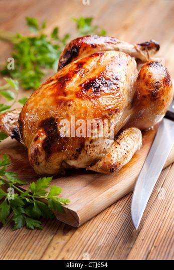 roast chicken - Stock-Bilder
