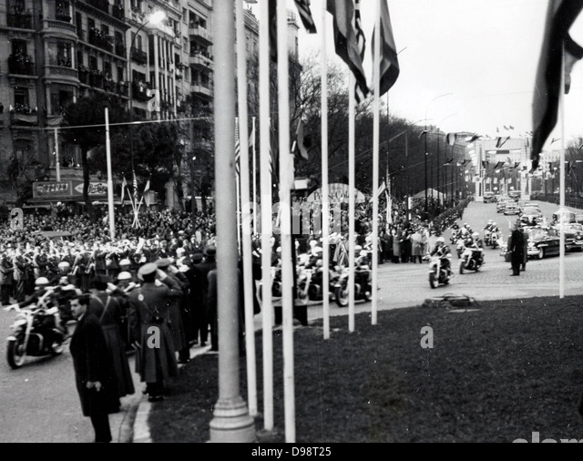 22 Dec 1959 Visit by President Eisenhower to Spain - Stock Image