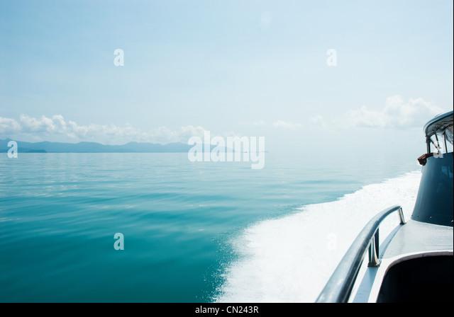 Speed boat at sea, Koh Samui, Thailand - Stock Image