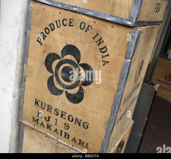 Tea box New Delhi India - Stock-Bilder