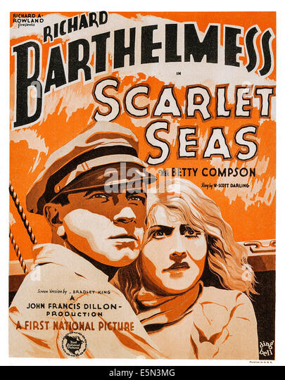 SCARLET SEAS, bottom right: Richard Barthelmess, 1928. - Stock Image