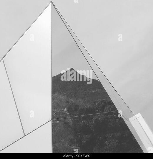 Black and white photo of minimal abstract architecture - Stock Image