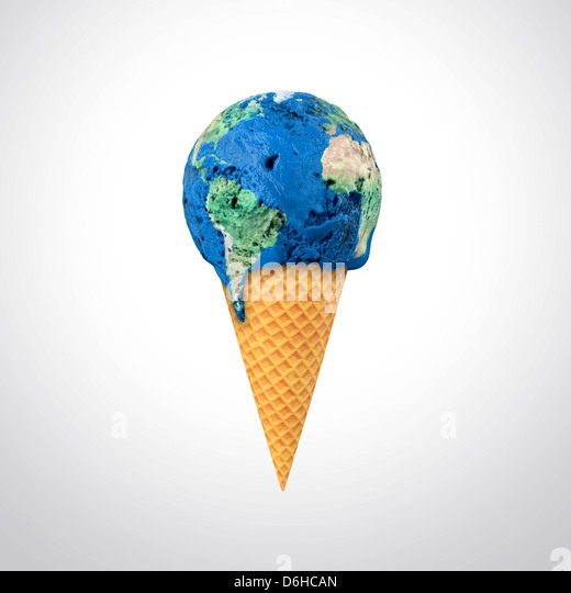 Global warming, conceptual artwork - Stock Image