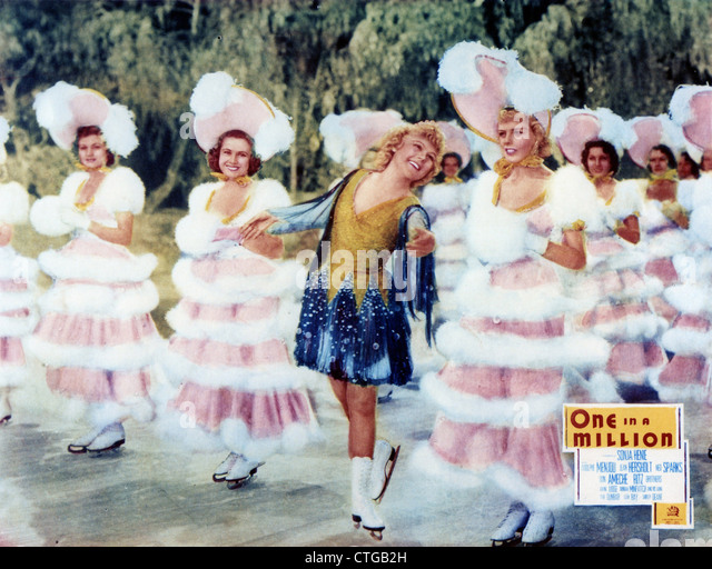 ONE IN A MILLION (1936) SONJA HENIE SIDNEY LANFIELD (DIR) 003 MOVIESTORE COLLECTION LTD - Stock Image