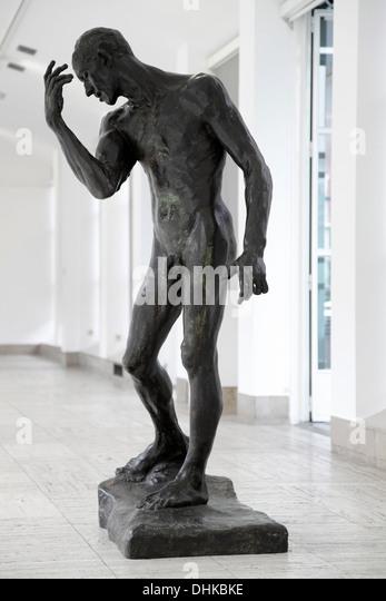 Auguste Rodin.Pierre de Wissant.Bourgeois de Calais.1885-1886.Bronze. - Stock Image