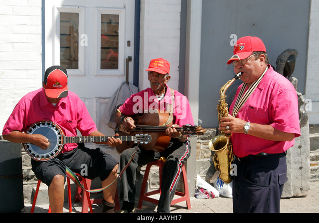 south africa cape town Victoria Albert Waterfront Jazz band - Stock Image
