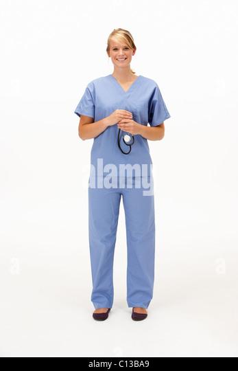 Female medical professional in studio - Stock Image