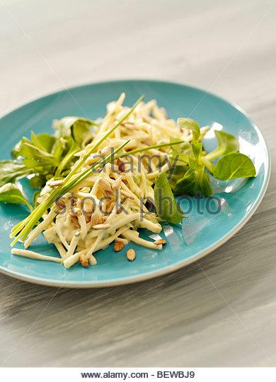 parsnip salad, close-up - Stock Image