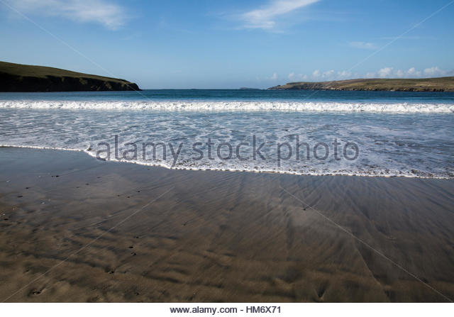 Sandsape and Beach of St. Ninia's Isle - Stock Image