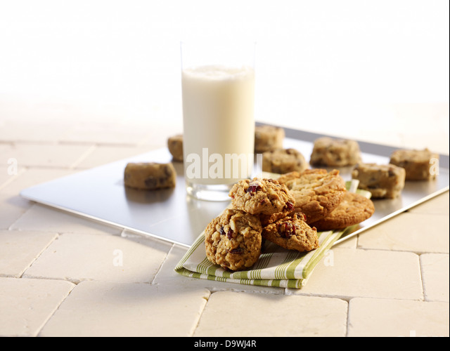 cookies and milk - Stock Image