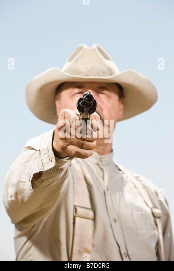 Shooting Cowboy Stock ...