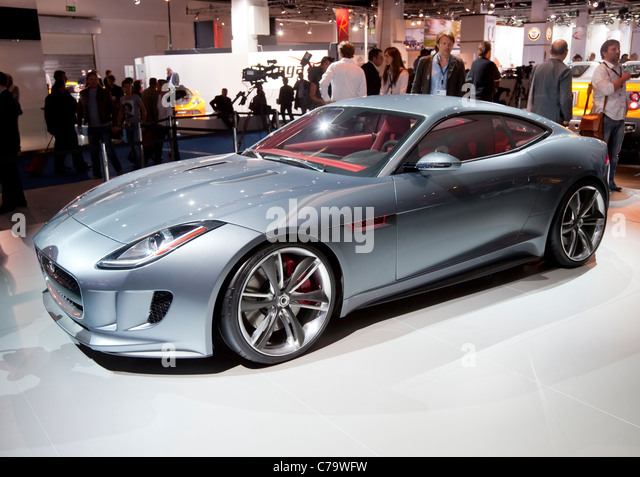 New Jaguar Hybrid Concept C-X16 on the IAA 2011 International Motor Show in Frankfurt am Main, Germany - Stock Image