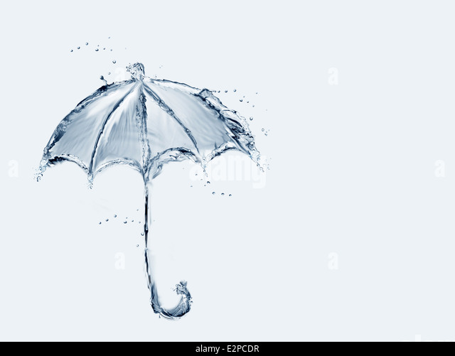 Blue Water Umbrella - Stock-Bilder