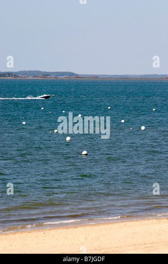 beach and sea arcachon bordeaux france - Stock Image