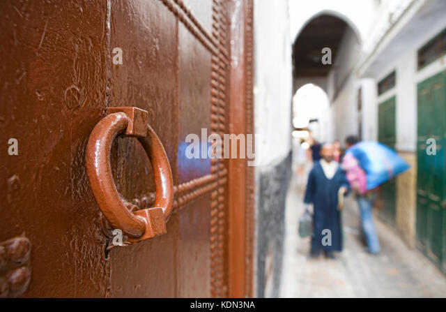 Streets of the medieval medina of Tetouan, north Morocco - Stock Image