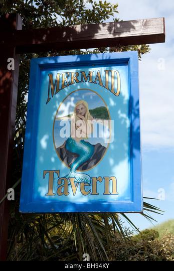 Mermaid Tavern Herm Island - Stock Image