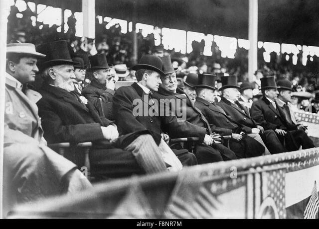 U.S. President William H. Taft at Baseball Game, Washington, DC, USA, circa 1910 - Stock Image