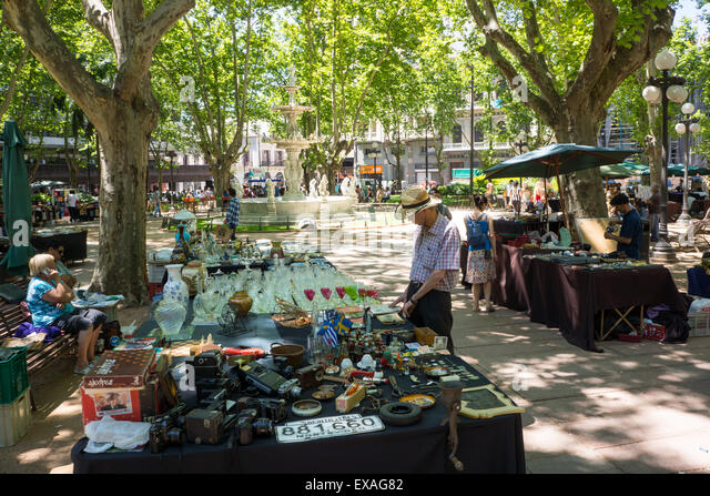 Antique market, Montevideo, Uruguay, South America - Stock Image
