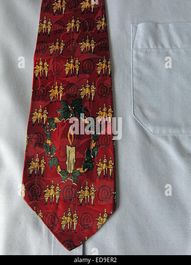 Interesting Yule Tie vintage tie, male neckware in silk - Stock Image