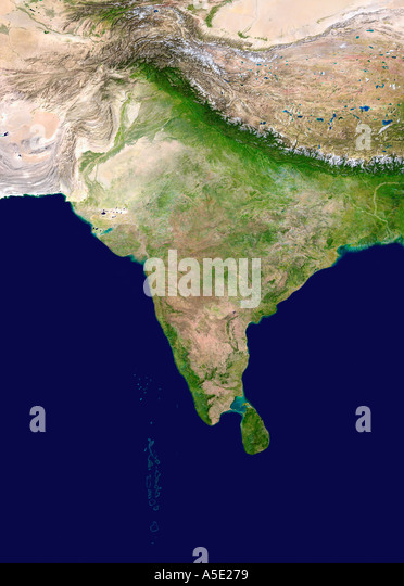 Satellite Image of The Indian Subcontinent Earth from Space - Stock-Bilder