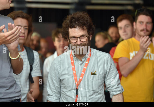 Karlovy Vary, Czech Republic. 04th July, 2016. Famous American screenwriter Charlie Kaufman attends the KVIFF Talks - Stock-Bilder
