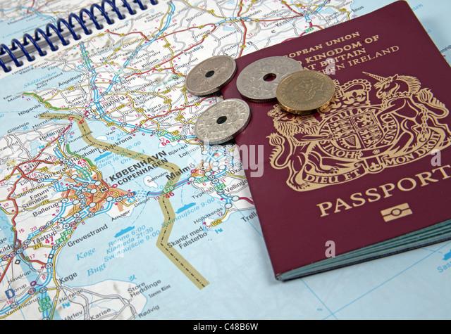 Travel Concept; Planning a Trip to Europe: Copenhagen, Denmark - Stock-Bilder
