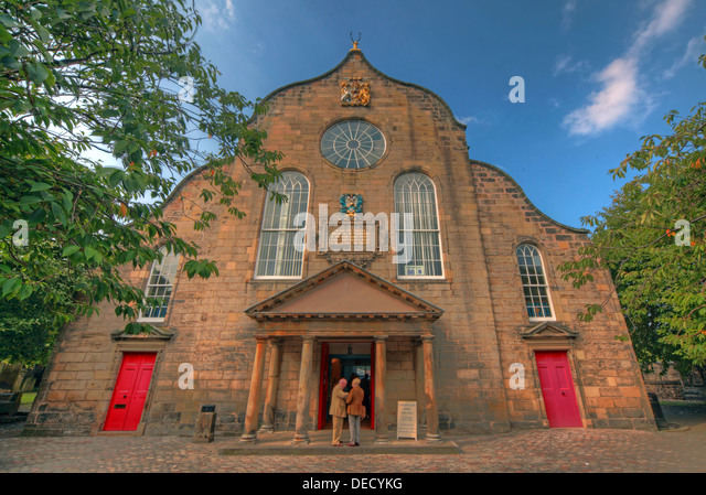 Canongate Kirk Church Edinburgh Royal Mile, Scotland, UK Exterior in summer 2013 - Stock Image