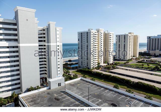 South Carolina SC Atlantic Ocean Myrtle Beach Wyndham SeaWatch Plantation hotel resort high rise building - Stock Image