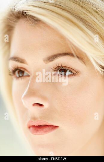 Portrait of beautiful girl - Stock Image