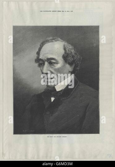 Disraeli, Benjamin - Stock Image