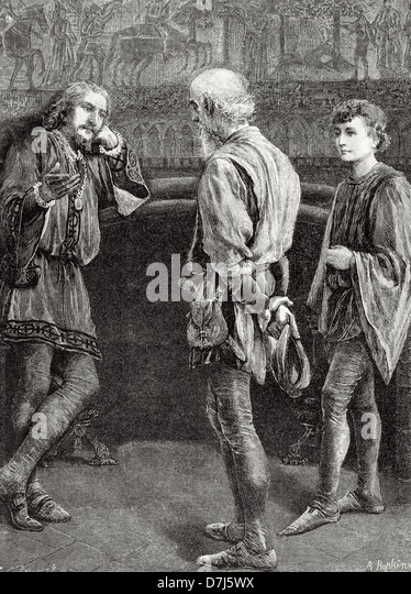 a review of act ii scene ii of hamlet by william shakespeare Scene 2 additional character(s): rosencrantz and guildenstern--courtiers and childhood acquaintances of prince hamlet 1st player--an actor in a troop of actors who.