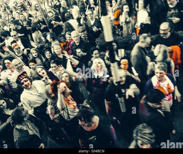 Zombie Gathering - Stock Image