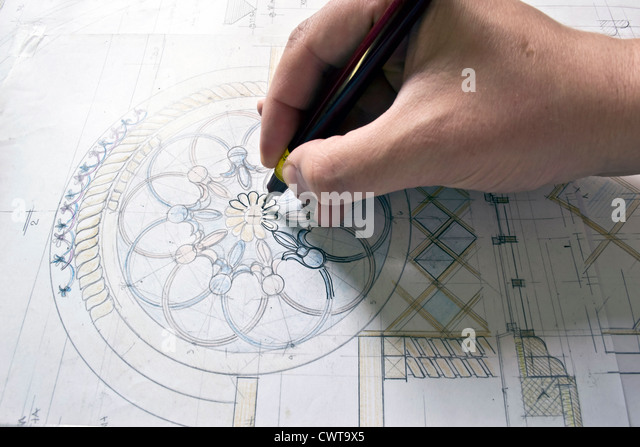 drawing ancient icon - Stock Image