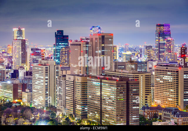 Office bulidings cityscape in Chiyoda District, Tokyo, Japan. - Stock-Bilder