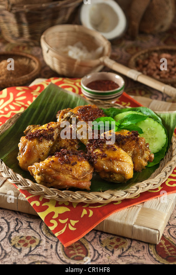 Ayam goreng Fried chicken Food Indonesia Malaysia South East Asia - Stock Image