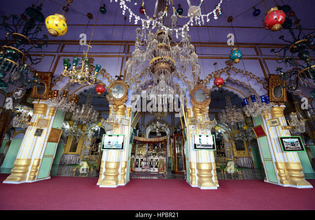 The beautiful Chota Imambara in Lucknow, India. - Stock Image