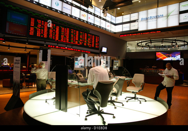 The Bovespa Stock Exchange, Sao Paulo, Brazil, South America - Stock Image