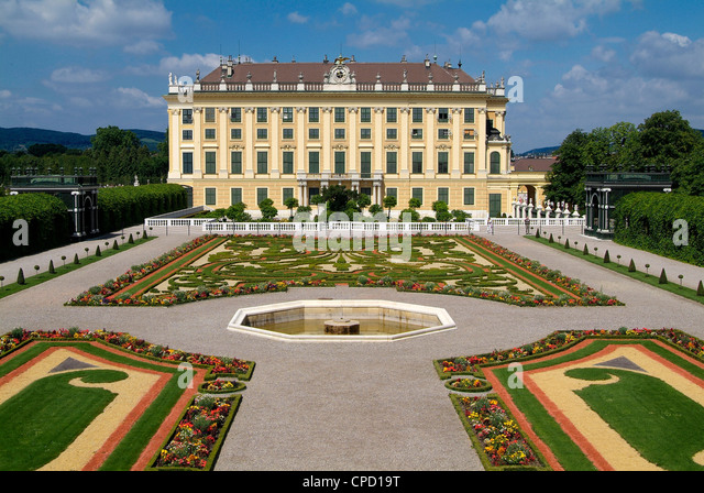 Schonbrunn Palace, UNESCO World Heritage Site, Vienna, Austria, Europe - Stock Image
