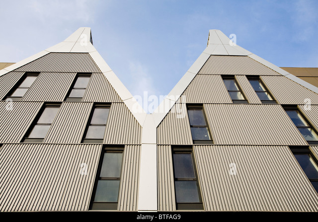 Modern apartment buildings, low angle view - Stock Image