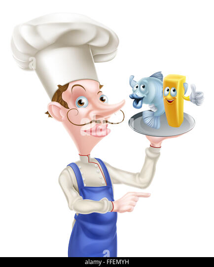 Fish N Chips Cartoon Characters : Pointi stock photos images alamy