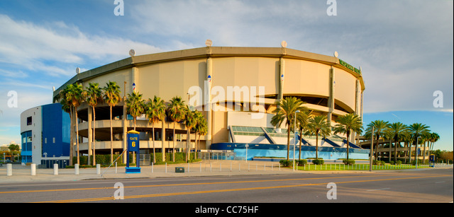 Tropicana Field, Home of the Tampa Bay Rays, a member team of Major League Baseball in St. Petersburg, Florida. - Stock Image