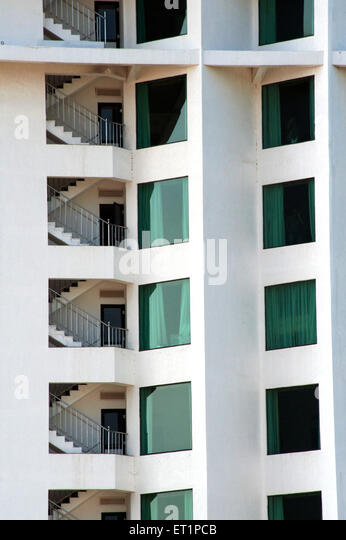 Graphic design of hotel in Kerala ; India - Stock Image