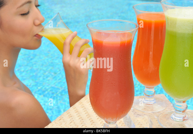 Colorful Drinking In Glass Water Stock Photos Colorful