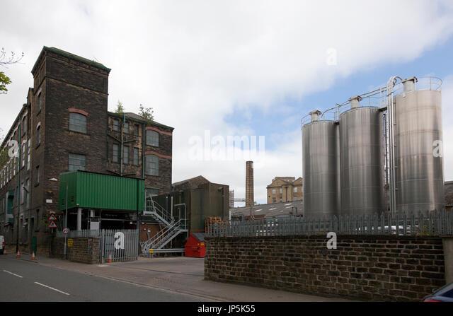 Industrial buildings, Sowerby Bridge, West Yorkshire - Stock Image